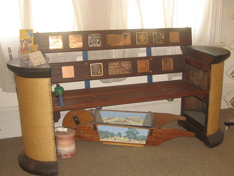 Bench seat handmade by local artisan Peter Hart-sm