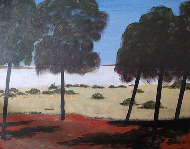 Canning Stock Route 2 by Peter Jeffs oil unframed 52cm x 40cm $80