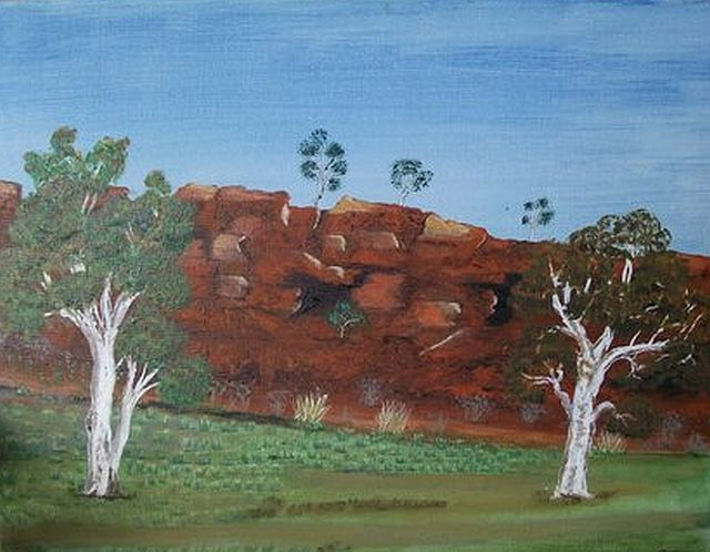 Canning Stock Route 4 by Peter Jeffs oil 52cm x 40cm $80