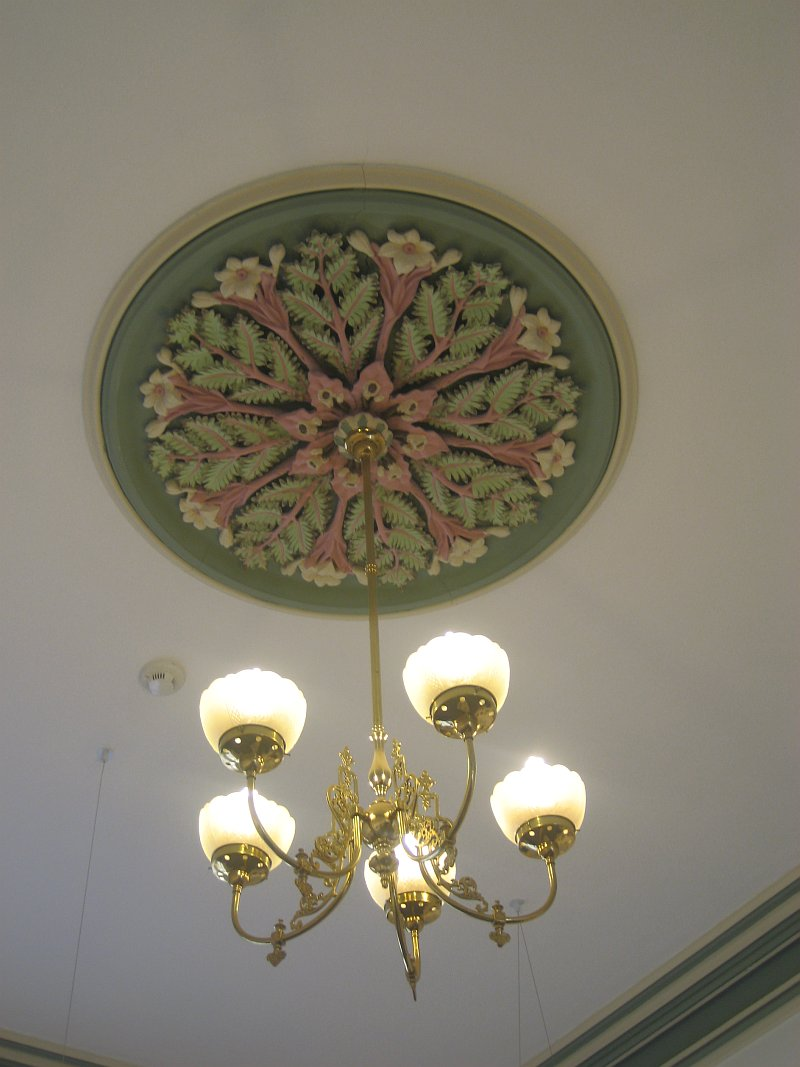 Historic ceiling rose and light-sm