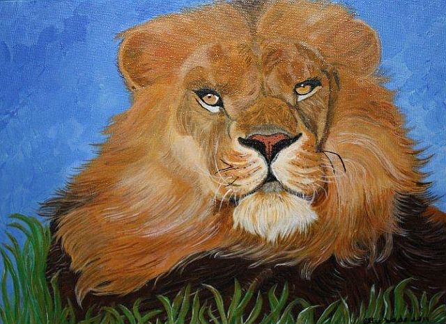 Male Lion by Olive Wade sm