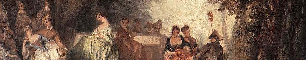 Company In The Park by Nicolas Lancret - Rococo Art, Oil on Canvas