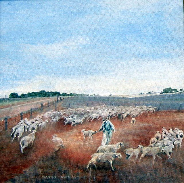 'Separating  the Lambs' by Maxine Donald sm