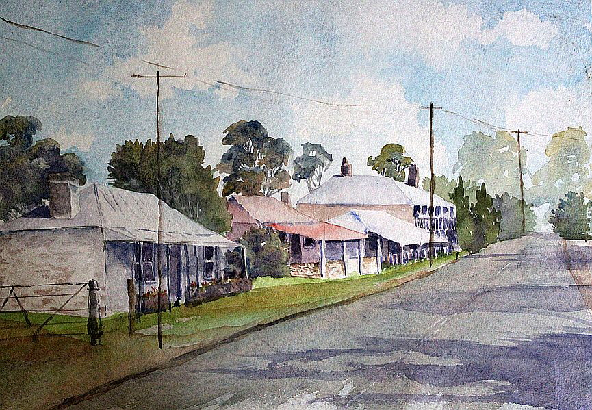 JD - watercolour street scene sms