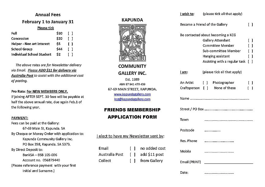 KCG Membership Application 2018-19 sms